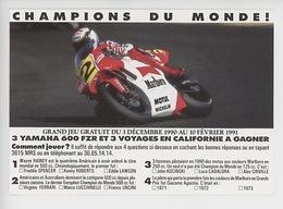 Yamaha 600 FRZ Et Californie - Jeu Champions Du Monde 1991 - Marlboro Motul Michelin - Motos