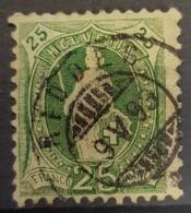 SWITZERLAND 1882/99 - Canceled - Sc# 83 - 25r - 1882-1906 Stemmi, Helvetia Verticalmente & UPU