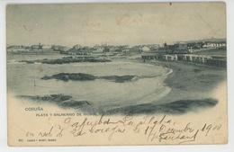 ESPAGNE - LA CORUNA - Playa Y Balneario De Riosol (1900) - La Coruña