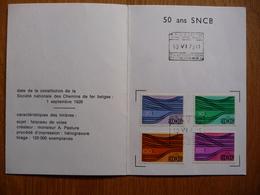 (2) BELGIQUE 1976 SNCB Yvert 428-431 USED SEE SCAN - Spoorwegen