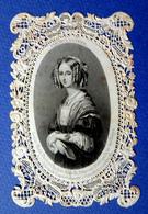 RARE CANIVET ..IMAGE PIEUSE MORTUAIRE  ..1850...LOUISE MARIS D'ORLÉANS...REINE DES BELGES - Imágenes Religiosas