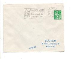 ALGERIE FDC 1959 FLAMME SIDI-BEL-ABBES LEGION ETRANGERE - Algerien (1924-1962)