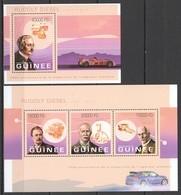 ST1412 2013 GUINEE GUINEA CARS ANNIVERSARY OF DEATH RUDOLF DIESEL 1KB+1BL MNH - Cars