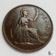 GRAN BRETAÑA - 1 Penny - 1938 - 1902-1971 : Monedas Post-Victorianas