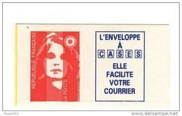 Briat TVP Rouge Autoadhésif + Vignette YT 2874b Sur Papier Azurant . Rare , Voir Le Scan . Maury N° 2868 I F : 12 € . - Variedades: 1990-99 Nuevos