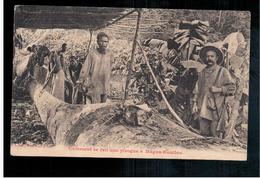 Congo Français   Comment Se Fait Une Pirogue à Magna Kouilou Ca 1910 Old Postcard - Congo Francés - Otros
