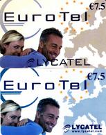 2 Cartes Prépayées Eurotel Lycatel €7.5 Différentes - Frankrijk
