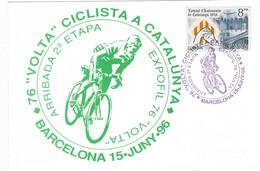 34865. Tarjeta BARCELONA 1996. 76 Volta Ciclista Catalunya, 2ª Etapa Ciclismo - 1931-Hoy: 2ª República - ... Juan Carlos I