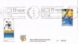 34866. Carta BARCELONA 1991. 71 Volta Ciclista Catalunya, Rodillo Especial Ciclismo - 1931-Hoy: 2ª República - ... Juan Carlos I