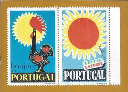 Stickers Of The Rooster Of Barcelos. Estoril Sun. Portugal. Galo De Barcelos. Aufkleber Hahns Barcelos. Estoril Sonne. - Emissions Locales