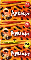 3 Cartes Prépayées Afrique GTS Omnicom 150U Différentes - Frankrijk