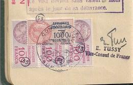 AFFAIRES ETRANGERES  NBX FISCAUX Sur Passeport Complet Et Tttb état    ESPAGNE  Voir Scans - Fiscaux