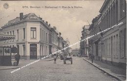 BERCHEM 1914 STATIESTRAAT / RUE DE LA STATION / HOEKPAND CAFE IN HET SPIEKEN, L AERTS-RAETS / ATTELAGES - Antwerpen