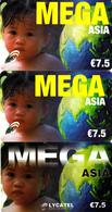 3 Cartes Prépayées MEGA Asia Lycatel €7.5 Différentes - Frankrijk