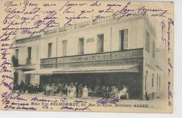 AFRIQUE - ALGÉRIE - ALGER - Commerce HÔTEL BRASSERIE Mme Veuve BELHOMMET , 19 Rue De Lyon , BELCOURT - Alger