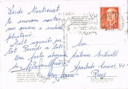 34872. Postal MONTSERRAT (Barcelona) 1967. Rodillo Especial Montaña Santa - 1931-Hoy: 2ª República - ... Juan Carlos I