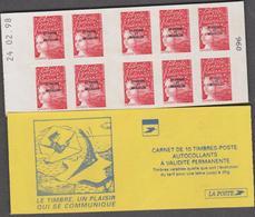 SAINT PIERRE ET MIQUELON 1 Carnet C675  LUQUET 10 T TVP - Daté 24.02.98 (vendu Sous Valeur Faciale 10.50 E) - Carnets