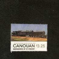 CANOUAN. LOCOMOTIVE. MNH. 5R1701A - Eisenbahnen