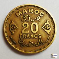 MARRUECOS - 20 Francs - AH1371:1951 - Marruecos