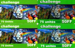 4 Cartes Prépayées Challenge 50FF 75U Différentes - Frankrijk