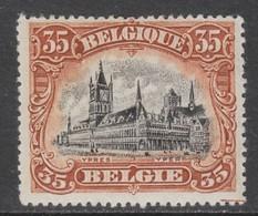 Belgium  142A  (tanding 15)  X (MH)  Cote 10,00 Euro - 1915-1920 Albert I