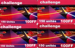 4 Cartes Prépayées Challenge 100FF 150U Différentes - Frankrijk