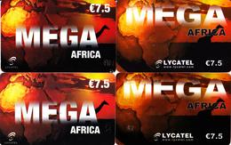 4 Cartes Prépayées MEGA Africa Lycatel Différentes - Frankrijk