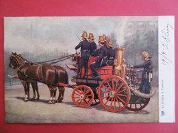 SAPEURS - POMPIERS  - Carte Fantaisie  - La POMPE A VAPEUR - Firemen