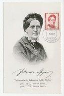 Maximum Card Switzerland 1951 Johanna Spyri - Writer - Heidi - Writers