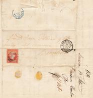 Año 1856 Edifil 48 4c Isabel II Carta Matasellosrejilla Y  Tipo II Cartagena Murcia - Briefe U. Dokumente