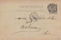 CARTE SAGE. DE TINCHEBRAY. AMBULANT GRANVILLE A PARIS / 2 - Marcophilie (Lettres)