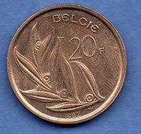 D // Belgique  - 20 Francs 1982   --  Km # 160  - état  SUP - 07. 20 Francos