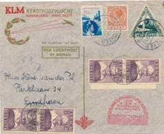 Nederland / Curacao - 1934 - Snip Kerstvlucht Van Eindhoven Naar Curacao En Retour - Poste Aérienne