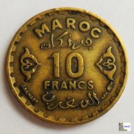 MARRUECOS - 10 Francs - AH1371: 1951 - Marruecos