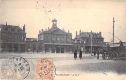 GARES - 59 - DUNKERQUE : La Gare ( Vue Extérieure Animée ) CPA - Nord - Stations - Zonder Treinen