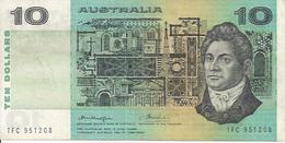 AUSTRALIA P45b 10 DOLLARS 1976 VF - Emissions Gouvernementales Décimales 1966-...