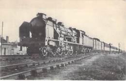 TRAINS - RESEAU D'ORLEANS Hendaye Bordeaux Paris : Machine PACIFIC à Soupapes - CPA - Train Zug Trenes Bahn Trein T - Trains