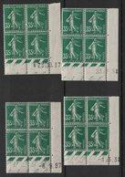 France - Yvert 361 - 4 Coins Datés Avec Dates Différentes - Scott#176 Plate Blocks - Dated Corners