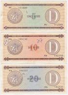 Cuba SET P FX34 FX35 FX36 - 5 10 20 Pesos 1985 Series D 2nd Issue - Fine+ - Cuba