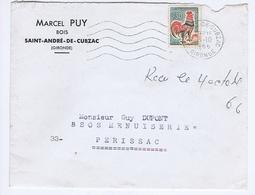 GIRONDE - Flamme Muette Ondulée à Gauche ST ANDRE-DE-CUBZAC Du 3 -10  1966 - Marcophilie (Lettres)