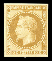 N°28Aa, 10c Bistre Impression De Rothschild, TTB (certificat)  Qualité: *  Cote: 285 Euros - 1863-1870 Napoleon III With Laurels
