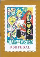 Vinheta De Viana Do Castelo. Romaria Da Srª D'Agonia. Minho. Minhoto Costumes. Sticker Mrs. D'Agonia's Pilgrimage - Emissions Locales