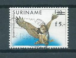 1993 Suriname Birds,oiseaux,vogels,vögel Harpij-arend Overprint Used/gebruikt/oblitere - Surinam