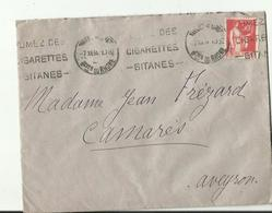 E Nveloppe Avec   Publicite  Fumes Des Cigarettes Gitanes  1934 - 1921-1960: Periodo Moderno