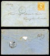 N°23, 40c Orange Obl GC 2387 Au Départ De MONACO Le 23 Juillet 65 Pour L'Italie, Au Verso Càd De Passage à Gênes Et Turi - Marcophilie (Lettres)