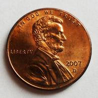 US - 1 Cent - 2007D - Émissions Fédérales