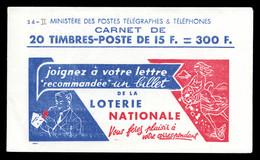 N°886C5, Série 6, LOTERIE NATIONALE Et EU, Daté Du 17.4.53. TB  Qualité: ** - Carnets