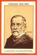 """CPA Illustrée Par Armand Rapeno """" Louis Pasteur 1822-1895 """" - Premi Nobel"""