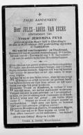 Elverdinge Oostvleteren Jules Van Eecke - Feys Gemeenteraadslid Dischraad 1921 - Oude Documenten