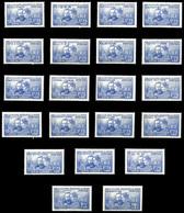 Série Pierre Et Marie Curie, Les 21 Valeurs TTB  Qualité: **  Cote: 496 Euros - 1938 Pierre Et Marie Curie